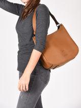 Shoulder Bag Balade Leather Etrier Black balade EBAL07-vue-porte