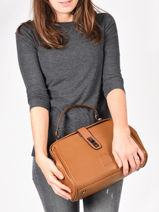 Medium Top Handle Balade Leather Etrier Brown balade EBAL09-vue-porte