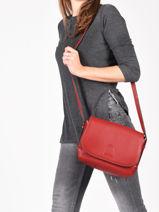 Shoulder Bag Balade Leather Etrier Red balade EBAL04-vue-porte