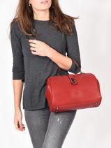 Medium Top Handle Balade Leather Etrier Red balade EBAL09-vue-porte