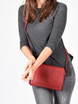 Crossbody Bag Balade Leather Etrier Red balade EBAL11-vue-porte