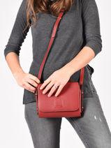 Crossbody Bag Balade Leather Etrier Red balade EBAL12-vue-porte