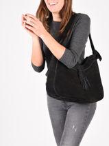 Shoulder Bag Tornade Leather Etrier Black tornade ETOR06-vue-porte