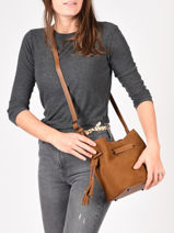 Crossbody Bag Bangkok Leather Etrier Brown bangkok EBAN14-vue-porte