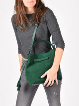 Top Handle Bangkok Leather Etrier Green bangkok EBAN13-vue-porte