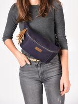 Leather Belt Bag Tornade Etrier Blue tornade ETOR10-vue-porte