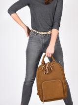 Leather Tornade Backpack Etrier tornade ETOR13-vue-porte