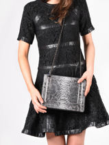 Medium Leather Delicate Fantaisie Crossbody Bag Etrier Black delicate fantaisie EDEF12-vue-porte