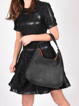Shoulder Bag Ecuyer Leather Etrier Black ecuyer EECU02-vue-porte