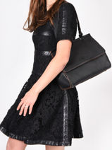 Top Handle Ecuyer Leather Etrier Black ecuyer EECU03-vue-porte