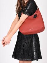 Shoulder Bag Ecuyer Leather Etrier Red ecuyer EECU02-vue-porte