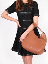 Shoulder Bag Ecuyer Leather Etrier Brown ecuyer EECU02-vue-porte