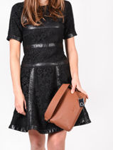 Shoulder Bag Ecuyer Leather Etrier Black ecuyer EECU04-vue-porte