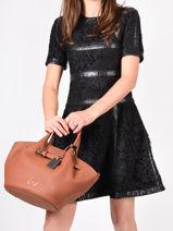 Top Handle Ecuyer Leather Etrier Brown ecuyer EECU05-vue-porte