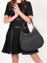 Shoulder Bag Tradition Leather Etrier Black tradition EHER21-vue-porte