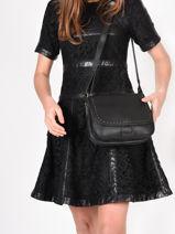 Crossbody Bag Tradition Leather Etrier Black tradition EHER23-vue-porte