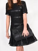 Shoulder Bag Tradition Leather Etrier Black tradition EHER27-vue-porte