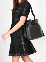 Leather Bucket Bag Tradition Etrier Black tradition EHER29-vue-porte
