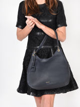 Shoulder Bag Tradition Leather Etrier Blue tradition EHER21-vue-porte