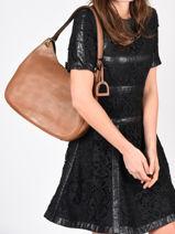 Shoulder Bag Tradition Leather Etrier Brown tradition EHER21-vue-porte