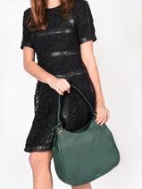 Shoulder Bag Tradition Leather Etrier Green tradition EHER21-vue-porte