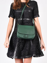 Crossbody Bag Tradition Leather Etrier Green tradition EHER23-vue-porte