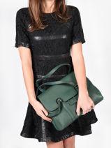 Shoulder Bag Tradition Leather Etrier Green tradition EHER27-vue-porte
