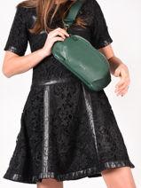 Leather Tradition Belt Bag Etrier Green tradition EHER33-vue-porte