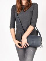 Shoulder Bag Balade Leather Etrier Blue balade EBAL01-vue-porte