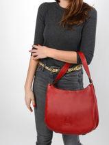 Shoulder Bag Balade Leather Etrier Red balade EBAL07-vue-porte