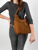 Shoulder Bag Tornade Leather Etrier Brown tornade ETOR06-vue-porte