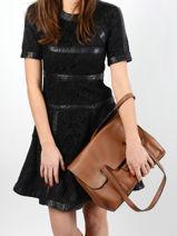 Shoulder Bag Tradition Leather Etrier Brown tradition EHER27-vue-porte