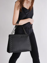 Shoulder Bag Delicate Rock Leather Etrier Black delicate rock EDER05-vue-porte