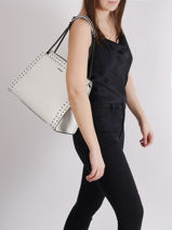 Shoulder Bag Delicate Rock Leather Etrier White delicate rock EDER05-vue-porte