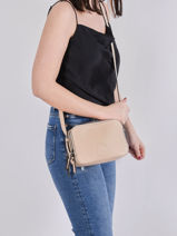 Shoulder Bag Balade Leather Etrier Beige balade EBAL01-vue-porte