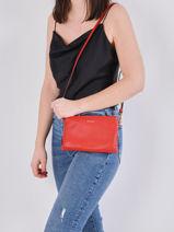 Shoulder Bag Tradition Leather Etrier Red tradition EHER14-vue-porte
