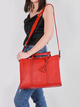 Leather Tradition Briefcase Etrier Red tradition EHER81-vue-porte