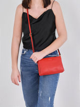 Crossbody Bag Tradition Leather Etrier Red tradition EHER30-vue-porte