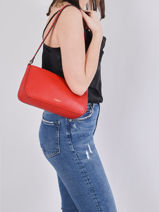 Crossbody Bag Tradition Leather Etrier Red tradition EHER35-vue-porte