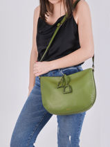 Crossbody Bag Tradition Leather Etrier Green tradition EHER2A-vue-porte