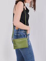 Shoulder Bag Tradition Leather Etrier Green tradition EHER14-vue-porte