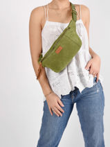 Leather Belt Bag Tornade Etrier Green tornade ETOR10-vue-porte