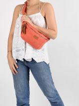 Leather Belt Bag Tornade Etrier Orange tornade ETOR10-vue-porte