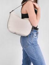 Shoulder Bag Ecuyer Leather Etrier Beige ecuyer EECU07-vue-porte