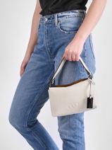 Shoulder Bag Ecuyer Leather Etrier Beige ecuyer EECU04-vue-porte