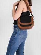 Shoulder Bag Deauville Etrier Black deauville EDEA01-vue-porte