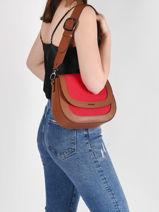 Shoulder Bag Deauville Etrier Red deauville EDEA01-vue-porte
