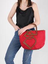 Shoulder Bag Deauville Etrier Red deauville EDEA05-vue-porte