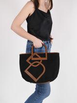 Shoulder Bag Deauville Etrier Black deauville EDEA05-vue-porte