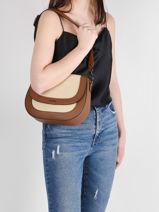 Shoulder Bag Deauville Etrier White deauville EDEA01-vue-porte